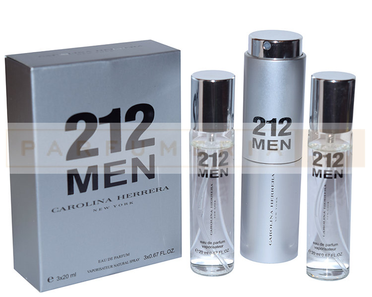 Духи 3 по 20 мл Carolina Herrera 212 MEN