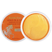 Гидрогелевые патчи  Farmstay Horse Oil Gold Hydrogel Eye Patch