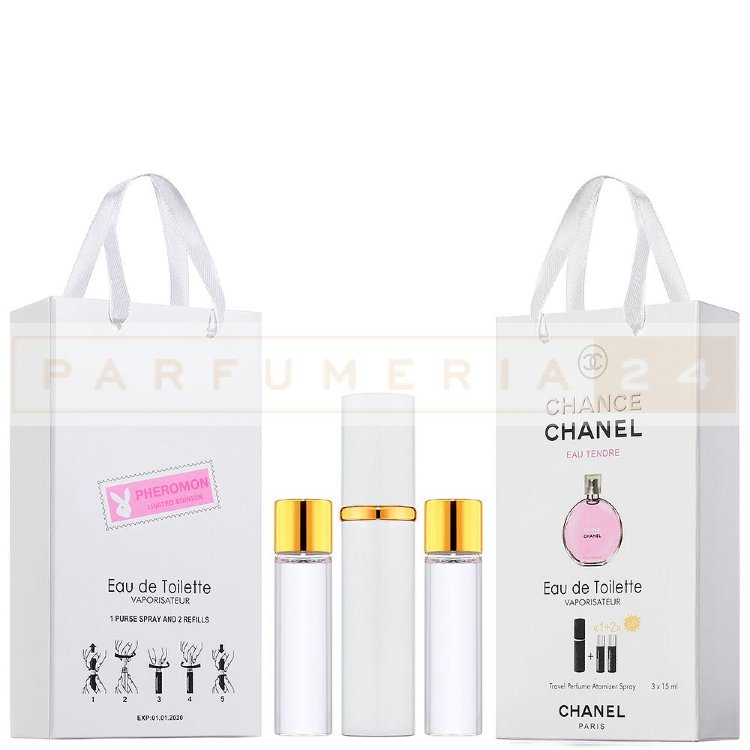 Набор с феромонами 3х15 Chanel Chance Eau Tender